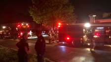 Toronto fire battled a two-alarm blaze at a home in Scarborough. (Miranda Anthistle/CP24)