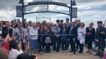 Hundreds of people gathered along the promenade Saturday afternoon for a reopening ceremony. (CTV)