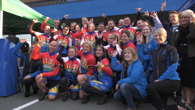 The 22nd annual Canadian Cancer Society's Cops for Cancer Tour de Rock officially kicked off Saturday. (CTV Vancouver Island)