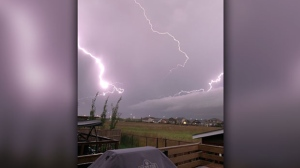 Watching lightning from Sage Creek. Photo by Heather Cherepak.
