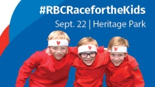 The third annual RBC Race for the Kids took place at Heritage Park on Sunday. (Facebook/Alberta Children's Hospital Foundation)