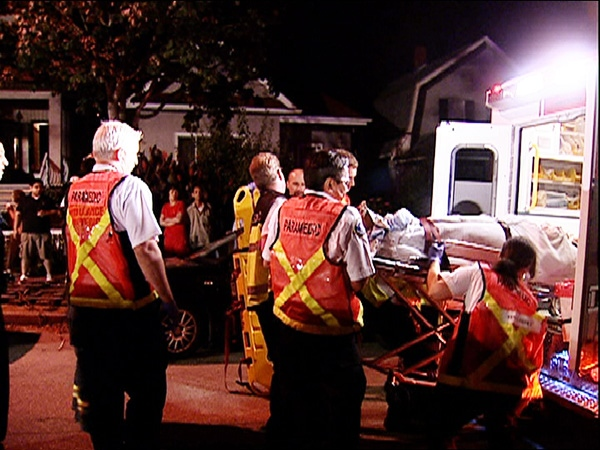 Early prognosis is that neither driver or passenger sustained life threatening injuries. August 30, 2009. (CTV)