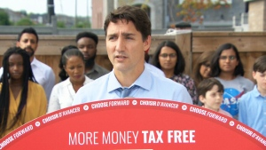 Liberal Leader Justin Trudeau makes announcement