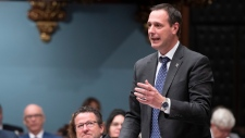 Quebec Education Minister Jean-Francois Roberge announced $2.3 billion Sept. 22 to help with renovations in the province's schools. THE CANADIAN PRESS/Jacques Boissinot
