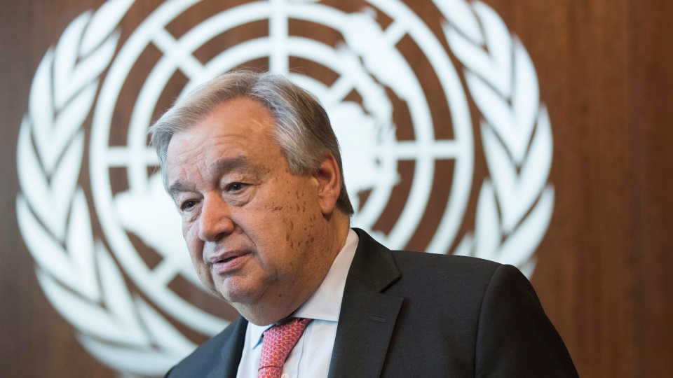 In this May 7, 2019, file photo, United Nations Secretary-General Antonio Guterres is photographed during an interview at United Nations headquarters. (AP Photo/Mary Altaffer, File)