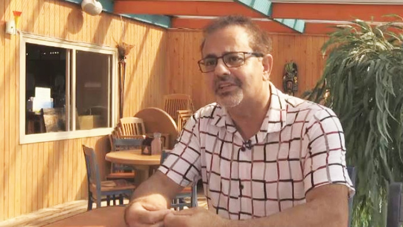 Issam Timani owns a restaurant near the Little Bouctouche River Bridge and says the closure has been bad for business.