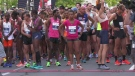 The Montreal Marathon started 50 minutes late as organizers scurried to close roads and avoid construction.