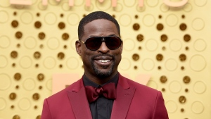 Sterling K. Brown arrives at the 71st Primetime Emmy Awards on Sunday, Sept. 22, 2019, at the Microsoft Theater in Los Angeles. (Photo by Jordan Strauss/Invision/AP)