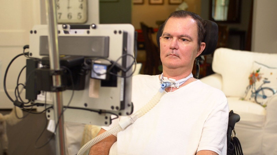 Dr. Jeff Sutherland wrote the entire book with the only part of his body he can fully move and control: his eyes.