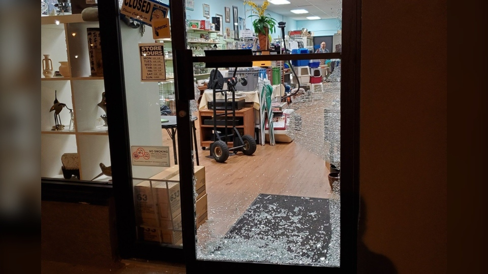 A BC SPCA thrift store was broken into early Sunday morning, leaving the store owners devastated, saying their cash donation bin was stolen.