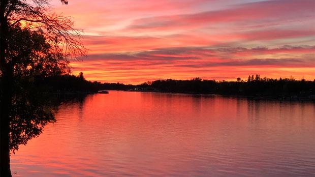 Netley Creek sunset. Photo by Ray Hill & Carla Wall.