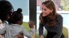 Kate, Duchess of Cambridge visits the Sunshine House Children and Young People's Health and Development Centre in London, Thursday Sept. 19, 2019. (Ian Vogler/Pool via AP)