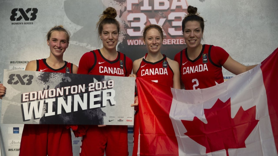 Team Canada FIBA 3x3 winners