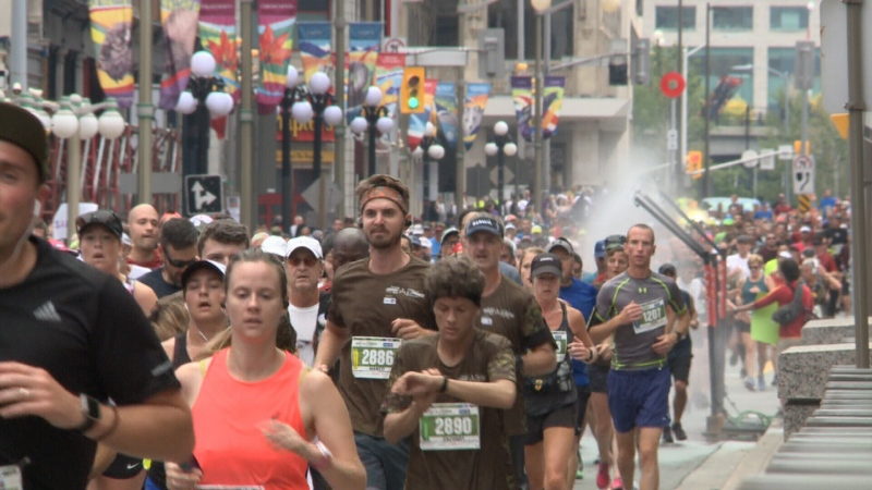 Participants race in the Canada Army Run in Ottawa, ON on Sunday, Sept. 22, 2019.