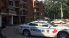 Police are on scene at the Parkwood Manor Seniors Apartment at 3015 Temple Drive in Windsor, Ont., on Monday, Sept. 23, 2019. (Stefanie Masotti / CTV Windsor)