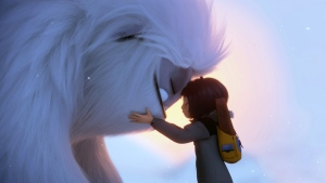 Everest the Yeti, left, and Yi, voiced by Chloe Bennet, in a scene from 'Abominable,' in theatres on Sept. 27. (DreamWorks Animation LLC. via AP)