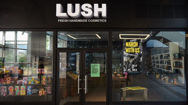 B.C.-based Lush Cosmetics is closing stores across Canada on Friday, Sept. 27 so workers can participate in climate change protests. (Lush)