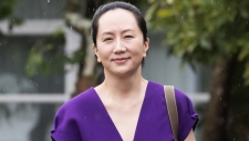 Huawei chief financial officer Meng Wanzhou, who is out on bail and remains under partial house arrest after she was detained last year at the behest of American authorities, leaves her home to attend a court hearing in Vancouver, on Monday September 23, 2019. THE CANADIAN PRESS/Darryl Dyck