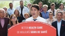 Leader of the Liberals Justin Trudeau, makes a health care policy announcement in Hamilton, Ontario on Monday Sept. 23, 2019. THE CANADIAN PRESS/Ryan Remiorz