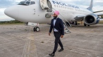 NDP Leader Jagmeet Singh heads from his airplane as he arrives in Miramichi, N.B. on Monday, Sept. 23, 2019. Singh is heading to Bathurst, N.B. for a campaign event before travelling to to Nova Scotia and then Manitoba. THE CANADIAN PRESS/Andrew Vaughan