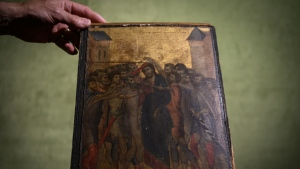 The painting has been attributed to the late 13th century Florentine artist Cenni di Pepo also known as Cimabue. AFP