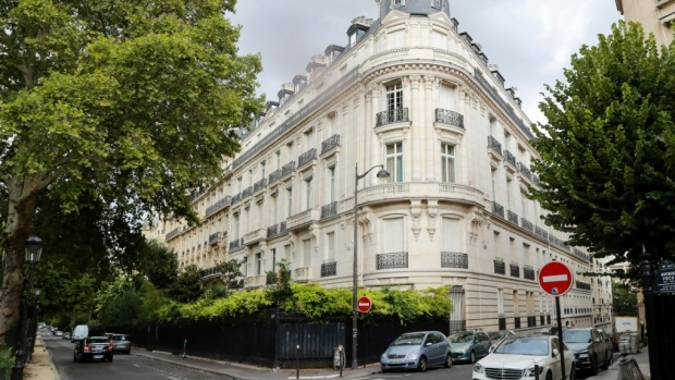 Jeffrey Epstein's flat is on Avenue Foch near the Champs-Elysees -- one of the world's most exclusive addresses. AFP
