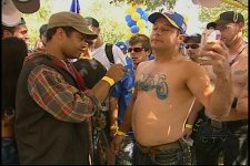 A NASCAR fan caught up in the moment (Aug. 30, 2009)