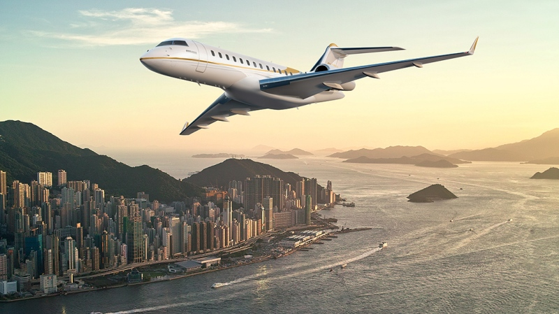 Bombardier Global 6500 business jet (image: Bombardier)