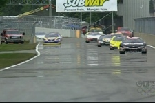 Most of Sunday's race was held in dry conditions (Aug. 30, 2009)