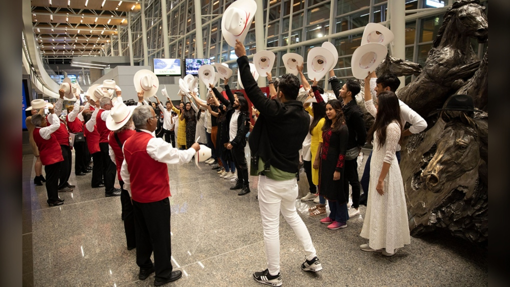 Taj Express, white hat, Alberta Ballet, YYC