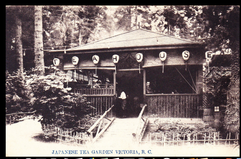 An image of the Japanese Tea Garden in Esquimalt dating back to the early 1900s (Photo by Ann-Lee and Gordon Switzer)