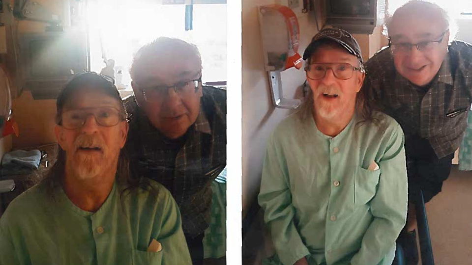 Alan Nichols, left, and his brother Gary appear in two undated images.