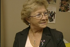 Betty McLeod runs the Agape charity in Laval (Aug. 30, 2009)
