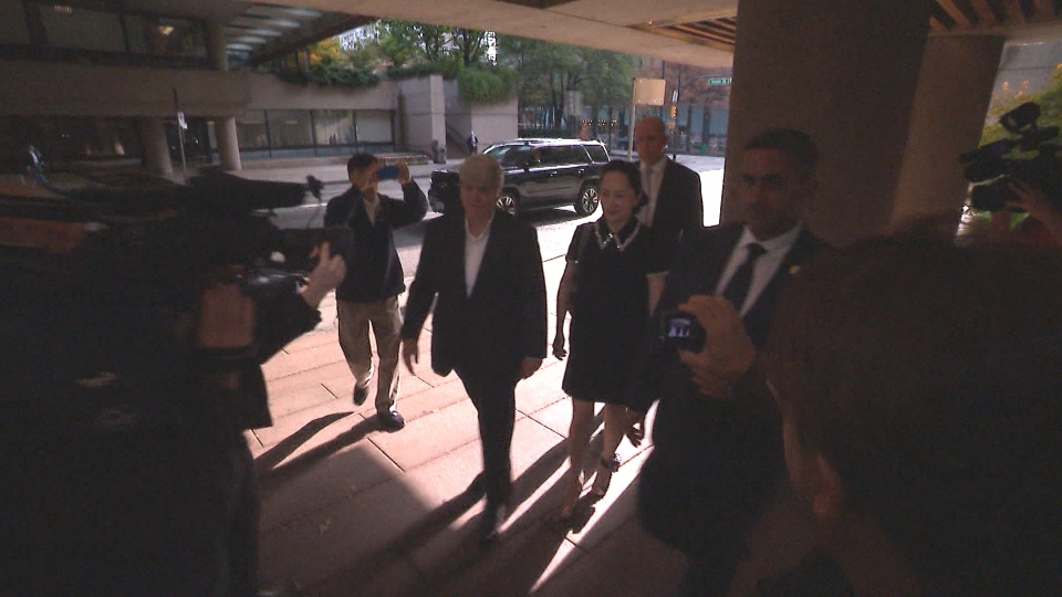 Huawei executive Meng Wanzhou enters the Vancouver courthouse as her lawyers try to convince the judge Canadian and American authorities conspired in her case.