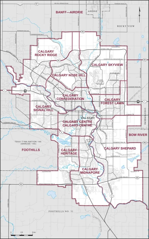 City of Calgary ridings - 2019 Federal Election