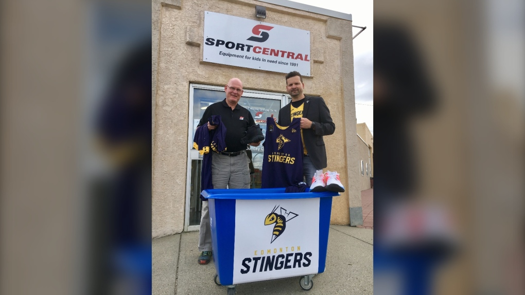 Edmonton Stingers and Sport Central