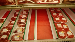 A 2008 file photo of a meat display at South Florida Kosher, a butcher shop in North Miami Beach, Fla. (AP Photo/Wilfredo Lee)