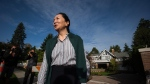 Huawei chief financial officer Meng Wanzhou, who is out on bail and remains under partial house arrest after she was detained last year at the behest of American authorities, leaves her home to attend the third day of a court hearing in Vancouver, on Wednesday September 25, 2019. (THE CANADIAN PRESS/Darryl Dyck)
