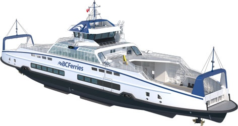 A rendering of an Island Class ferry. (BC Ferries)