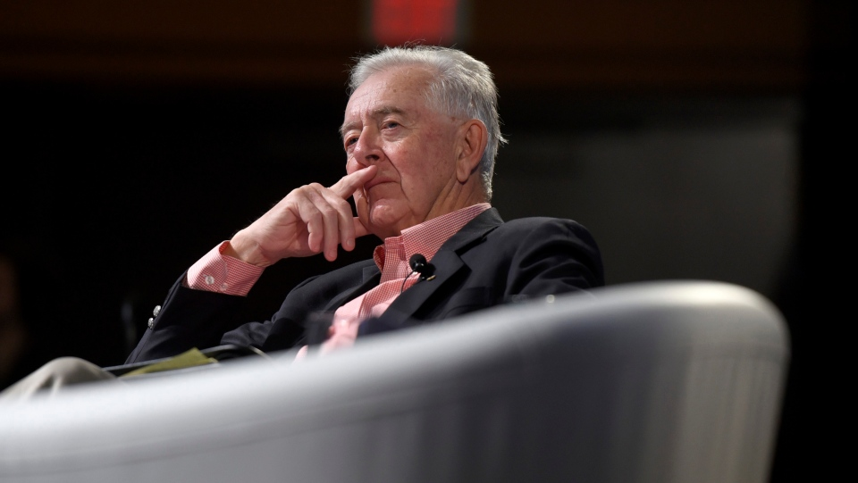 Preston Manning, founder of the Manning Centre, listens during the Manning Networking Conference in Ottawa on Friday, March 22, 2019. (THE CANADIAN PRESS / Justin Tang)