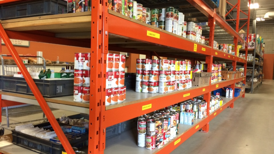Shelves at the Barrie Food Bank are in need of replenishing on Wed., Sept. 25, 2019 (Rob Cooper/CTV News)