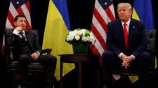 Donald Trump with Volodymyr Zelenskiy