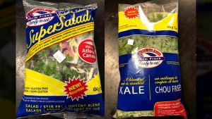 The products from Randsland Farms Inc. in Nova Scotia include the Randsland Super Salad Kit and Randsland Kale, which is cut and washed. (CFIA)