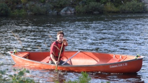Leader of the Liberal Party of Canada Justin Trudeau paddles a canoe at the Lake Laurentian Conservation Area in Sudbury, Ontario on Thursday Sept. 26, 2019. THE CANADIAN PRESS/Ryan Remiorz