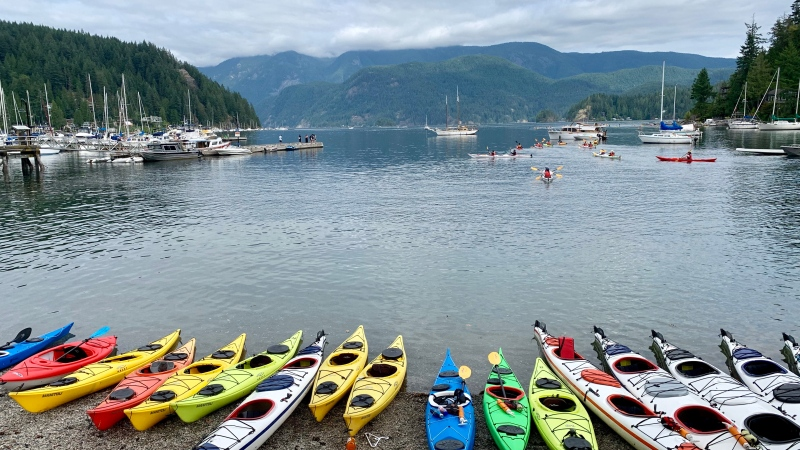 Kayaking in Deep Cove (Dennis Amador photo)