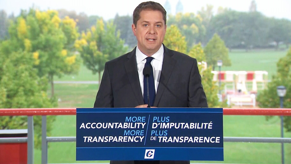 Conservative Leader Andrew Scheer accused the Liberals of providing foreign aid to 'adversarial' countries.