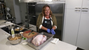 Angie Quaale of Well Seasoned - a gourmet food store - shows us how to safely prepare and cook a turkey.