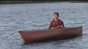 Trudeau makes memorable entrance in Sudbury