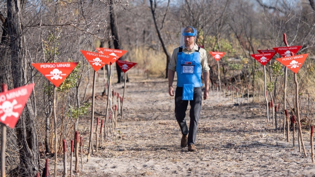 Prince Harry walks through Angola mine field, echoing Diana - CTV News