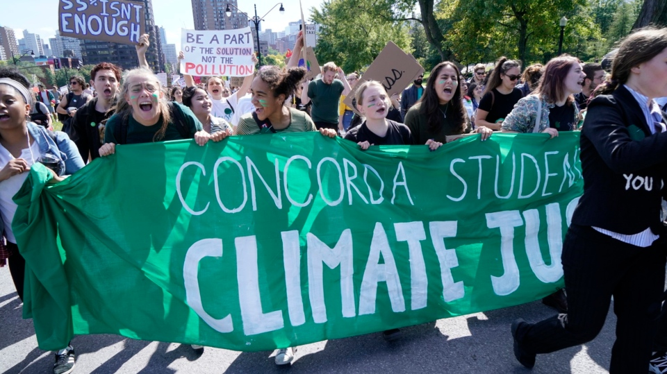 Climate march draws thousands